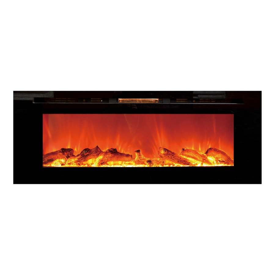 Bathroom Wall Heaters Electric Lowes: Touchstone 50.4-in W Black Fan-forced Electric Fireplace