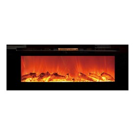 Touchstone 50.4 In W 5118 BTU Black Wall Mount Electric Fireplace With  Thermostat