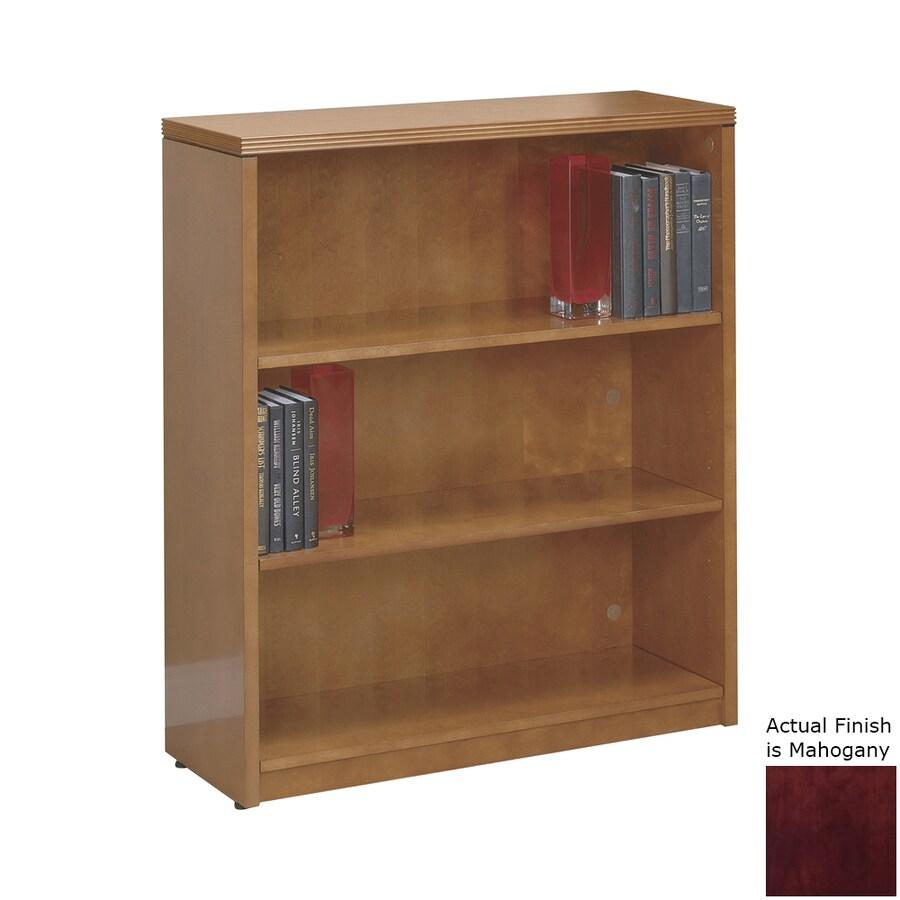 Office Star KenWood Mahogany Wood 3-Shelf Bookcase