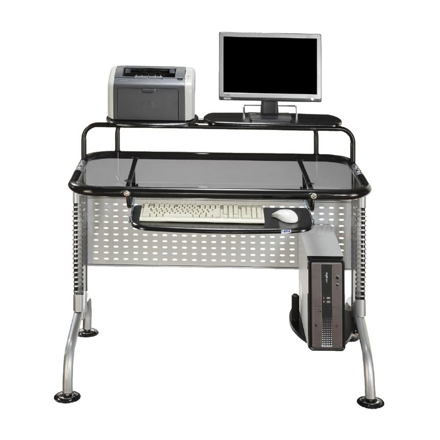 Shop Innovex Pilot Contemporary Black Computer Desk At