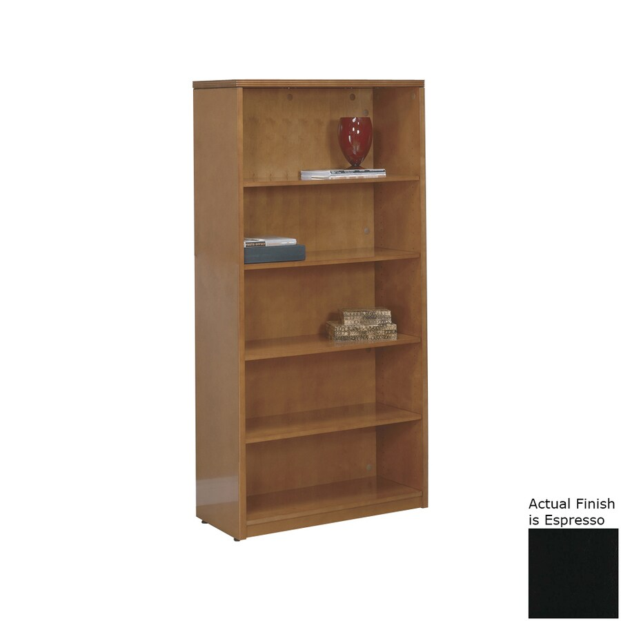 Office Star KenWood Espresso Wood 5-Shelf Bookcase