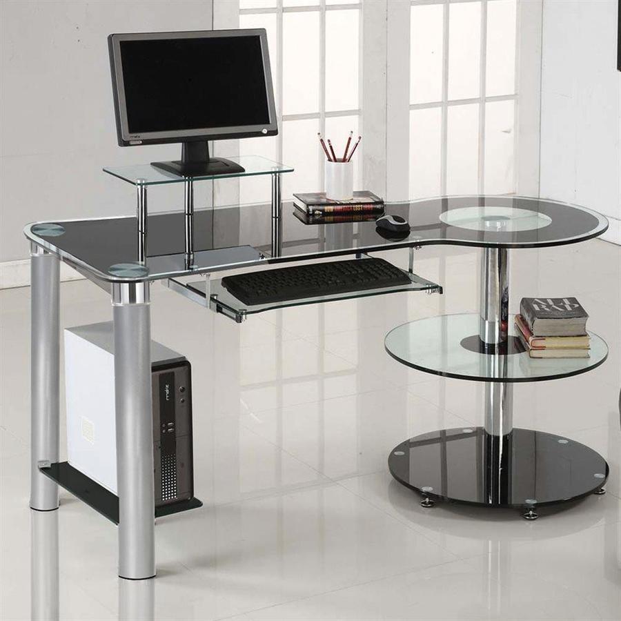 Innovex Orbit Contemporary Black Computer Desk