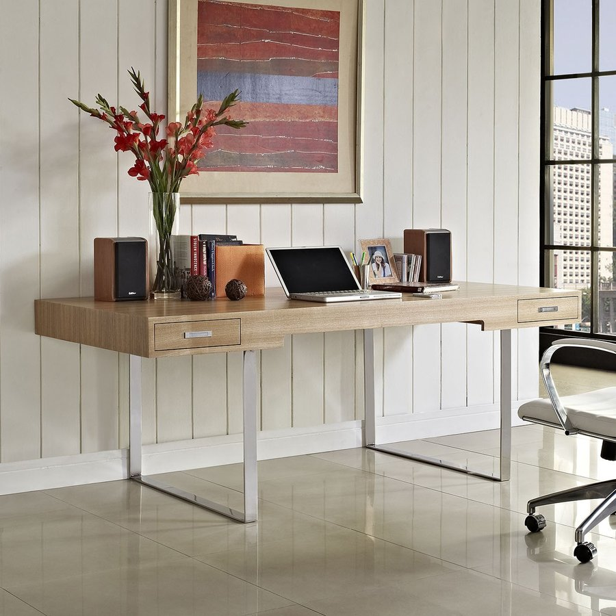 Modway Contemporary Natural Writing Desk