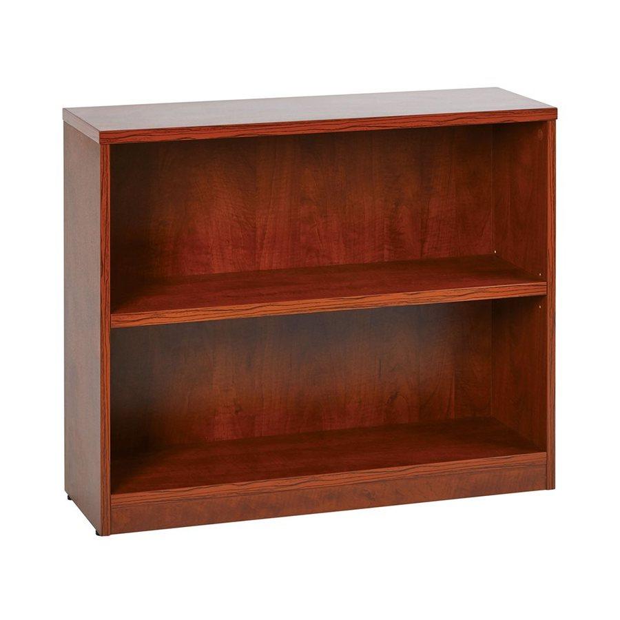 Office Star Medium Cherry Composite 2-Shelf Bookcase
