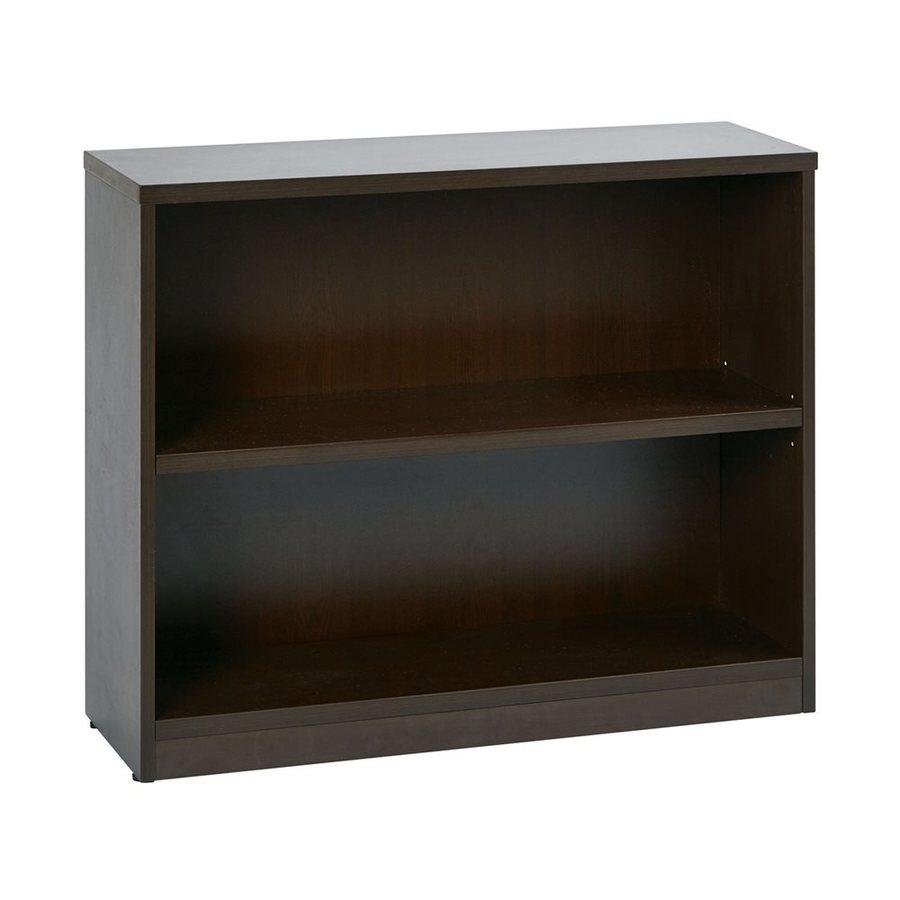Office Star Espresso Composite 2-Shelf Bookcase