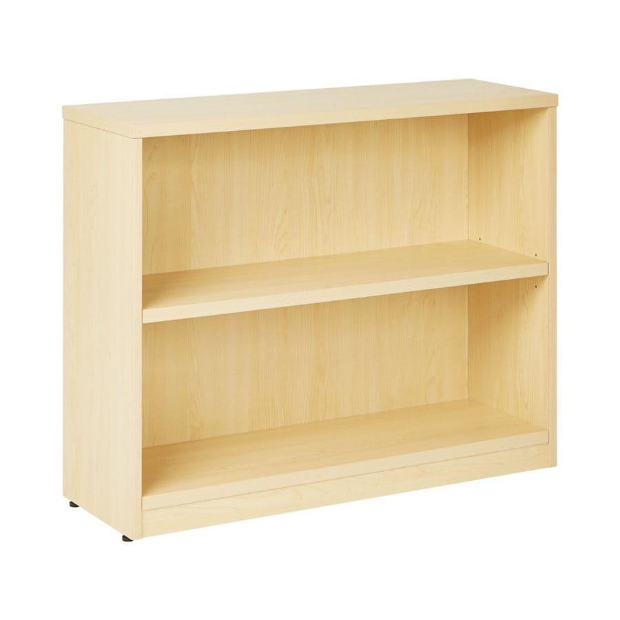 Office Star Maple Composite 2-Shelf Bookcase