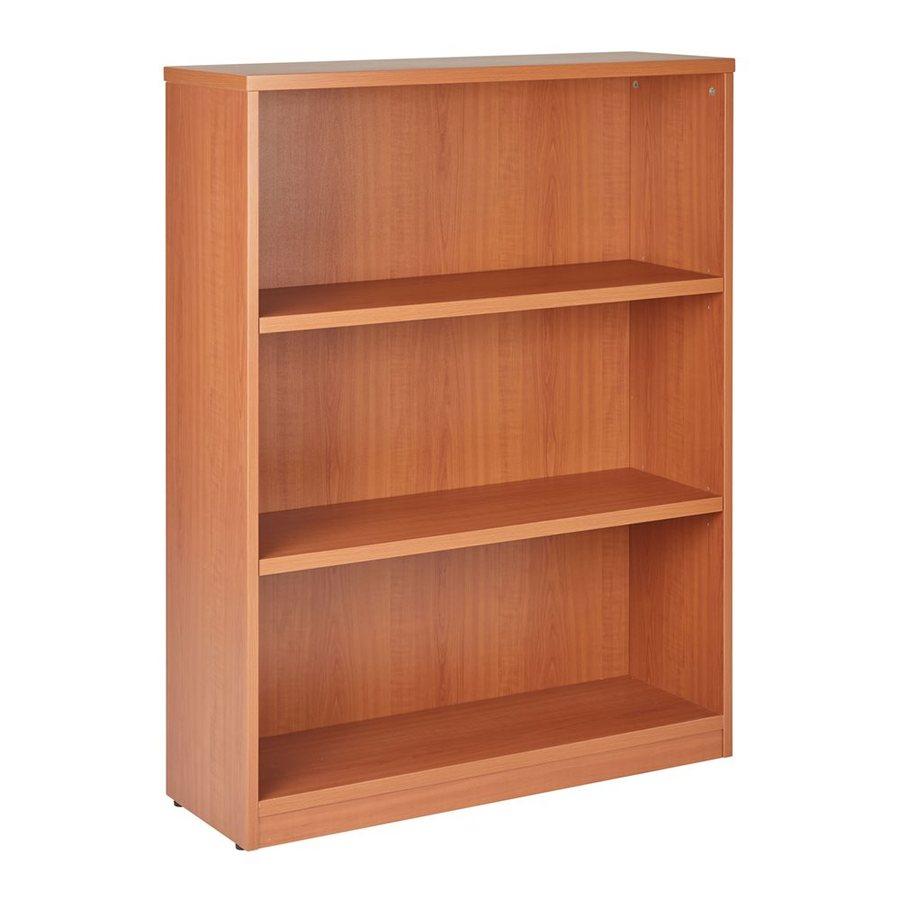Office Star Cognac Composite 3-Shelf Bookcase