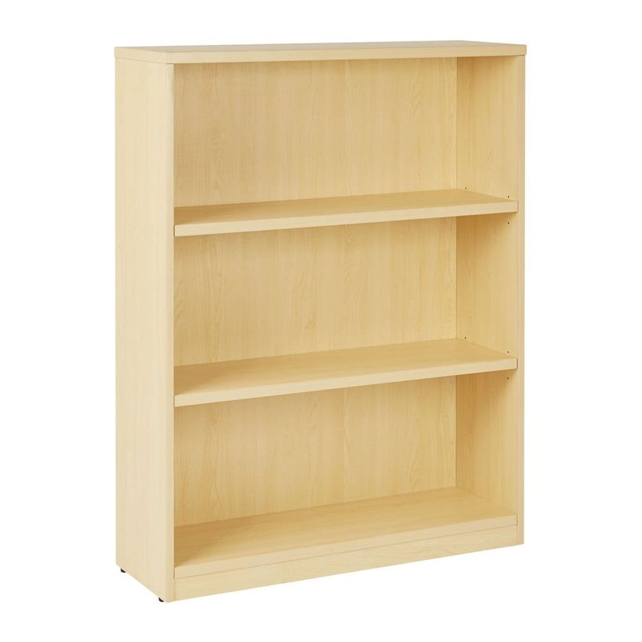 Office Star Maple Composite 3 Shelf Bookcase