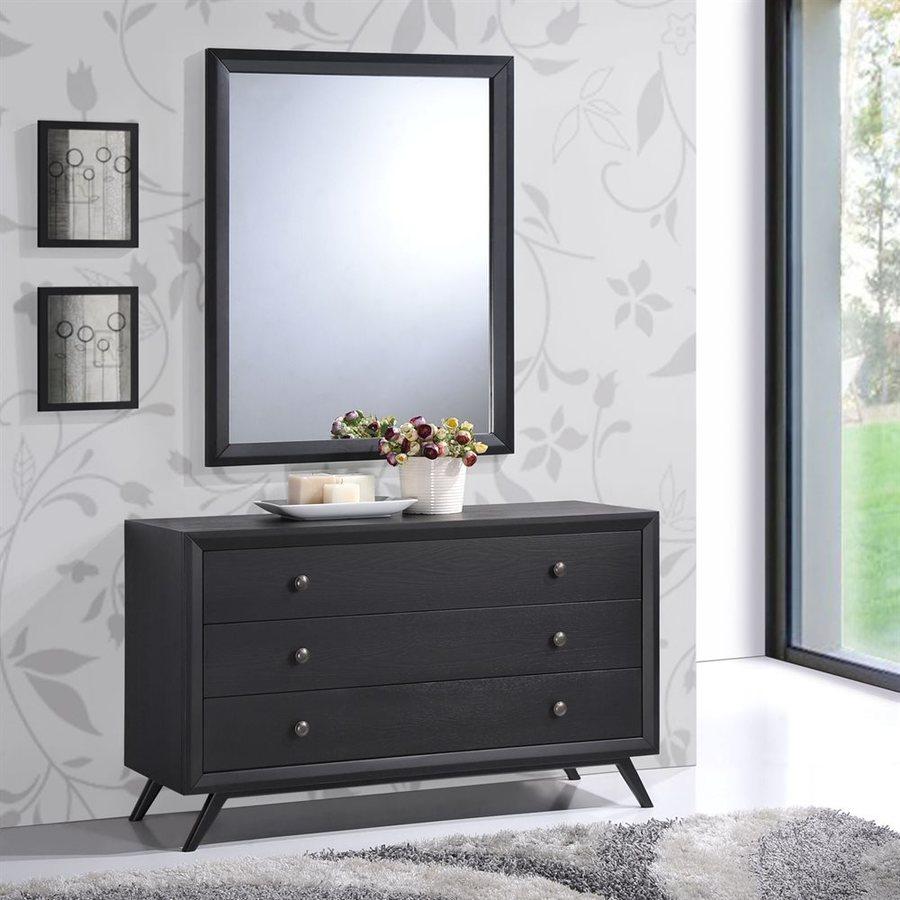 Modway Tracy Black 3-Drawer Dresser