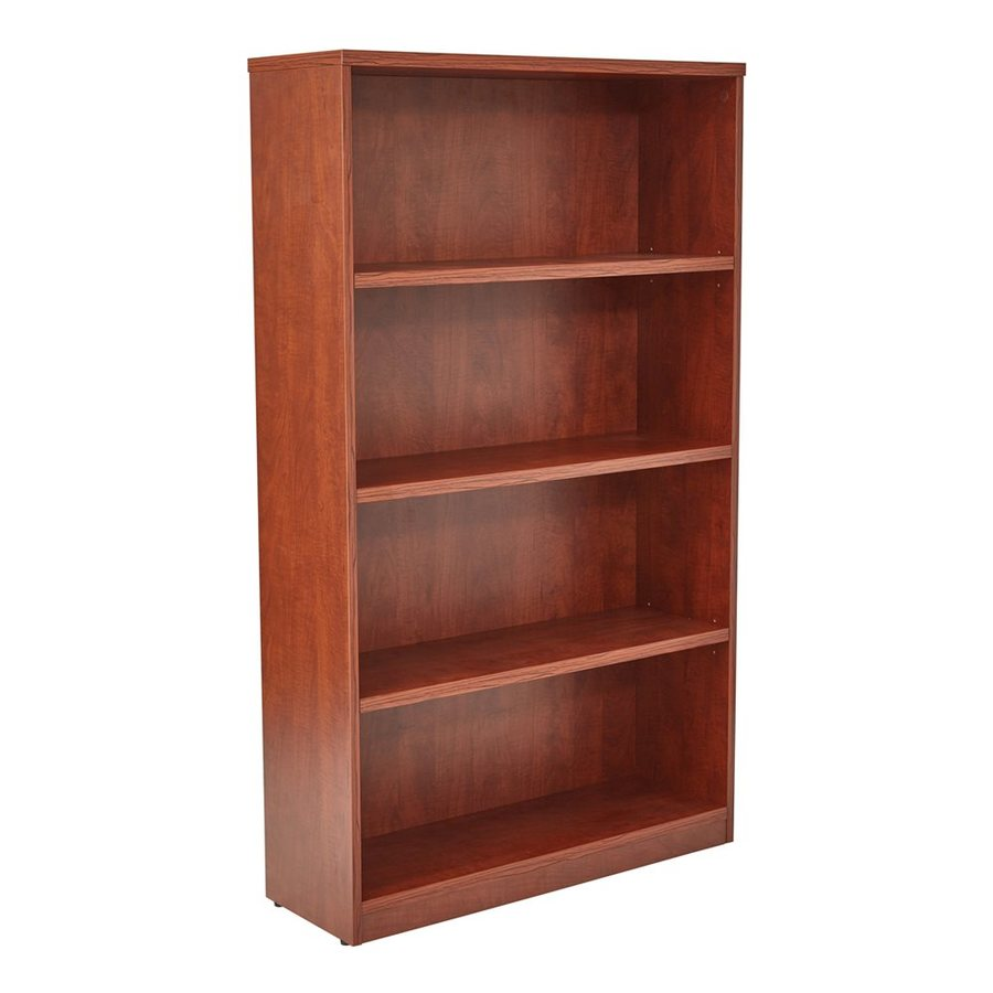 Office Star Medium Cherry Composite 4-Shelf Bookcase