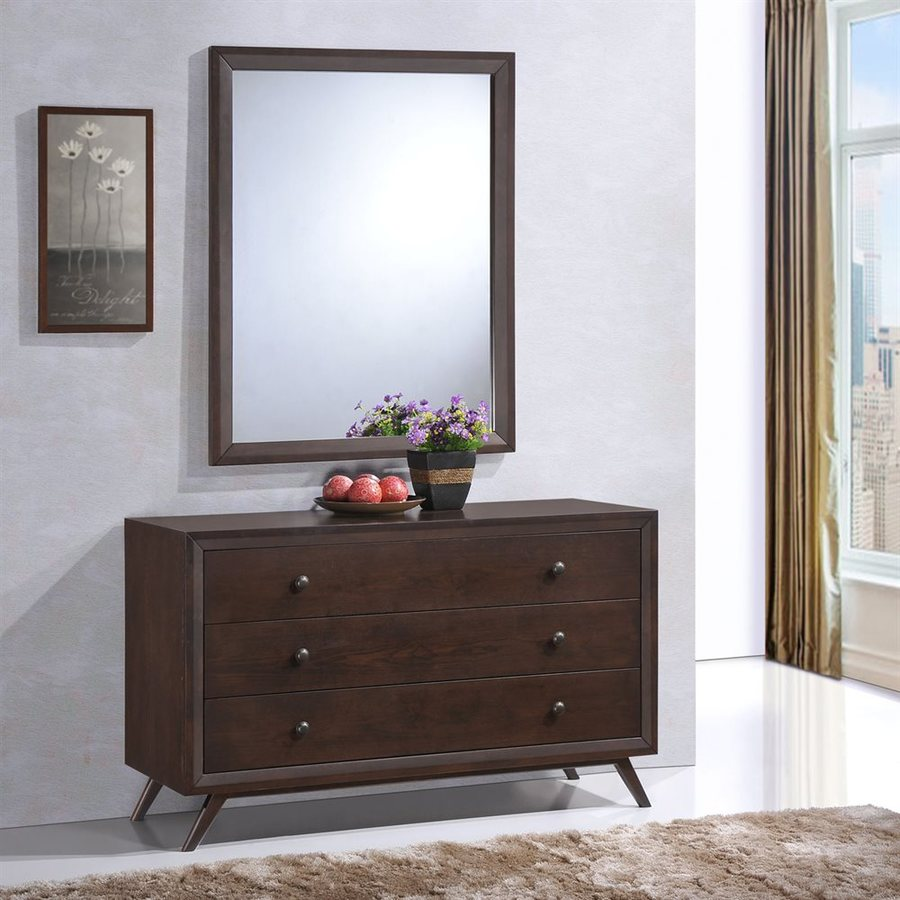 Modway Tracy Cappuccino 3-Drawer Dresser
