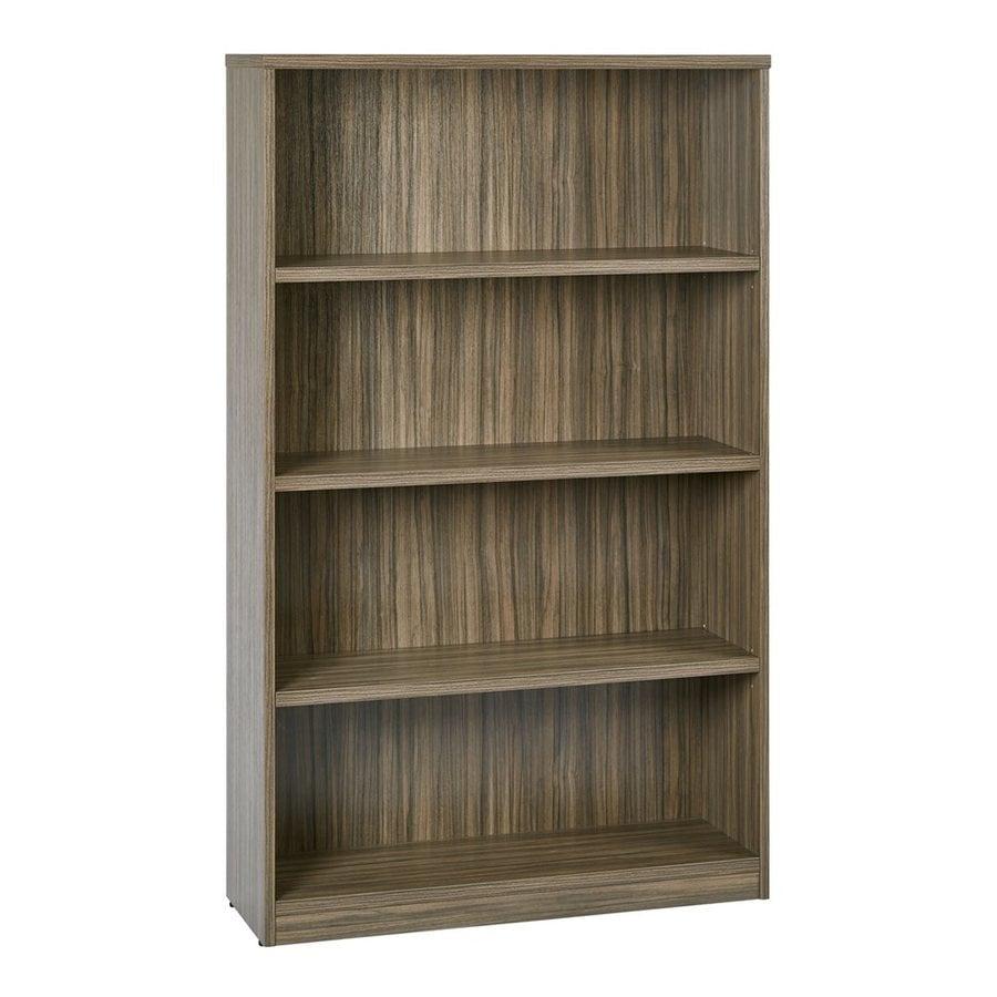 Office Star Urban Walnut Composite 4-Shelf Bookcase