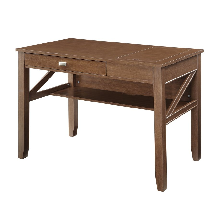 Office Star OSP Designs Light old wood Writing Desk