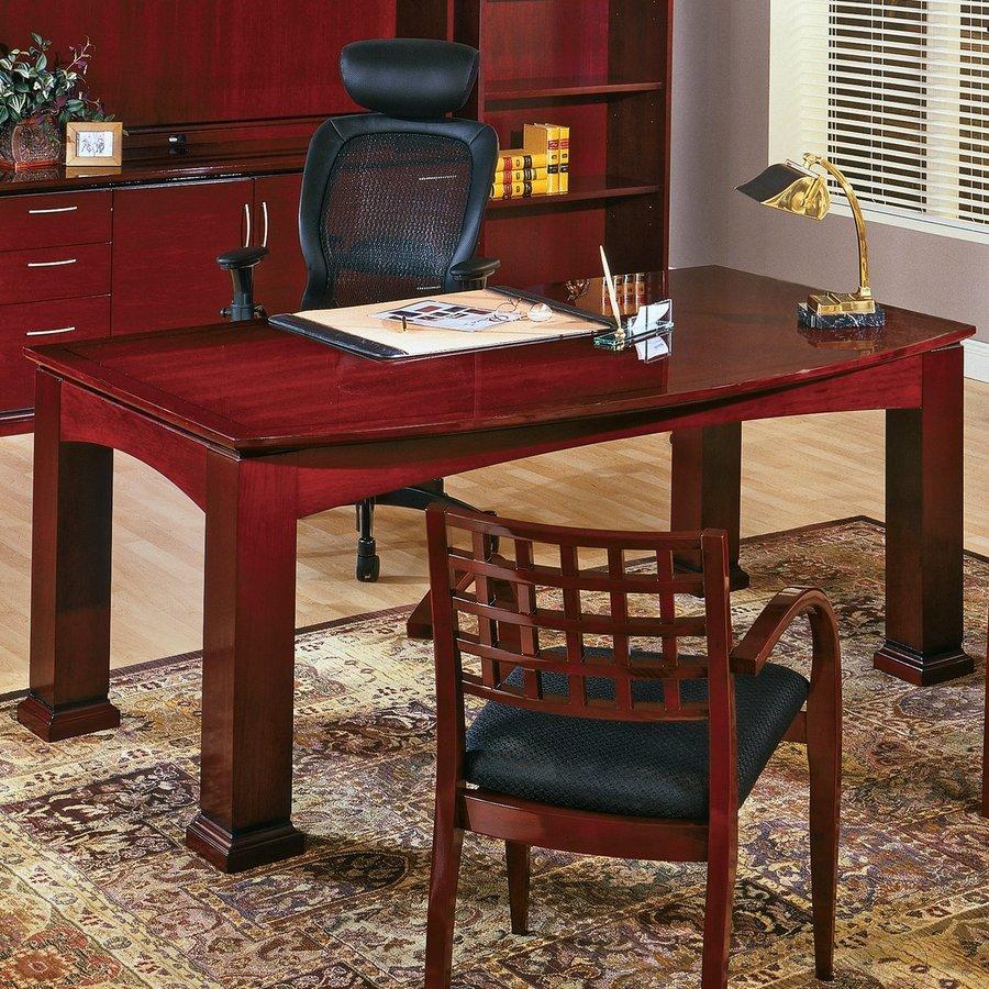 Office Star OSP Furniture Mendocino Mahogany Writing Desk