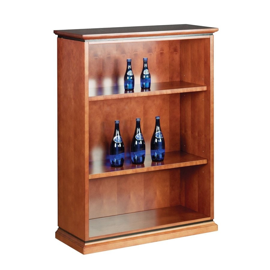 Office Star Mendocino Cherry Wood 3-Shelf Bookcase