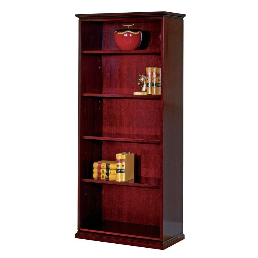 shop office star mendocino mahogany wood 5 shelf bookcase. Black Bedroom Furniture Sets. Home Design Ideas