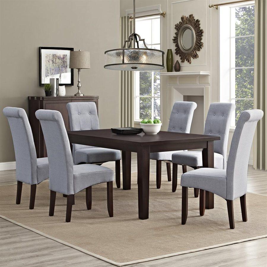 Simpli Home Cosmopolitan Java Brown Dining Set with Rectangular Table