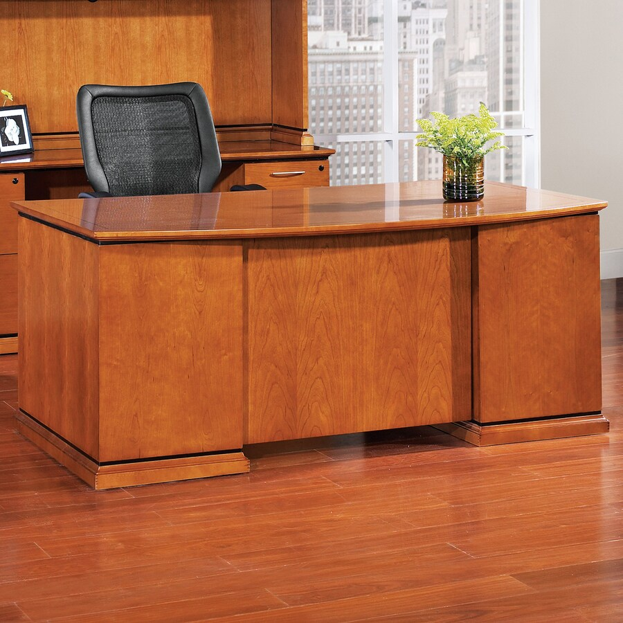 Office Star Osp Furniture Mendocino Cherry Credenza Desk