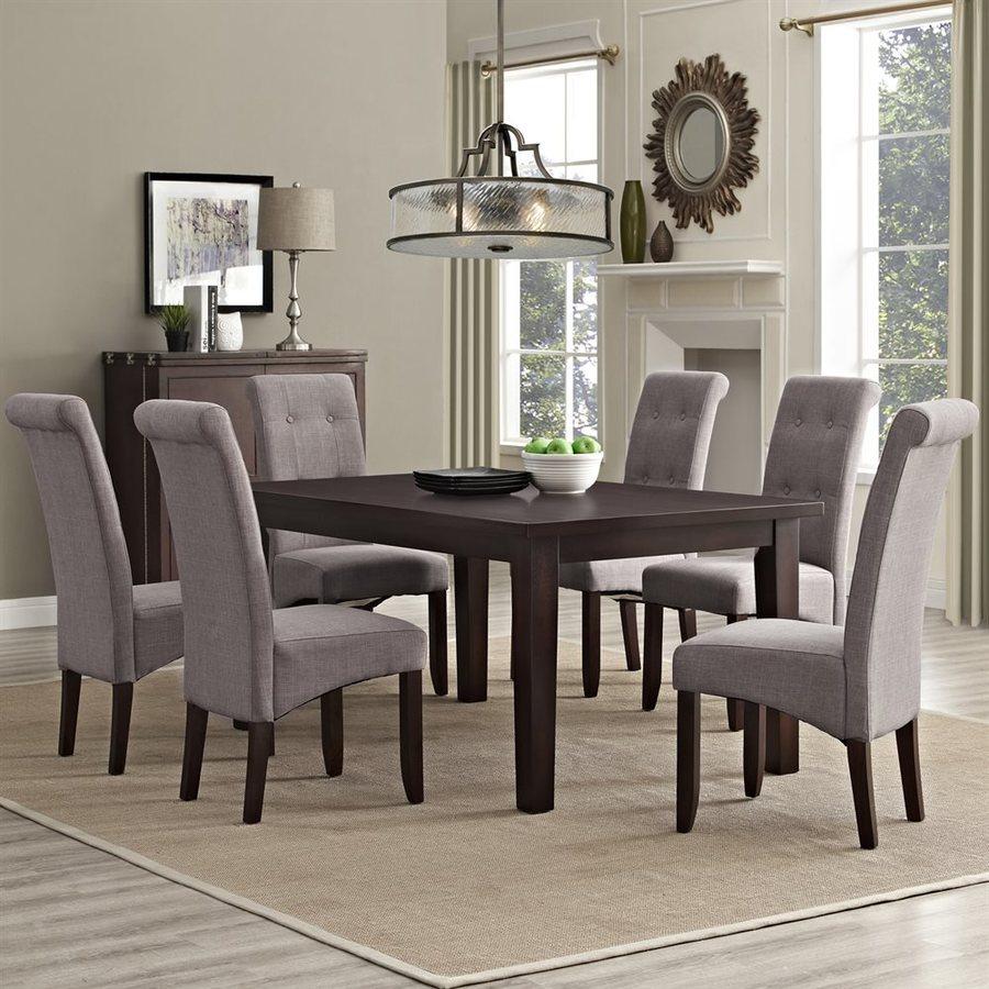 Simpli Home Cosmopolitan Java Brown 7 Piece Dining Set With Table
