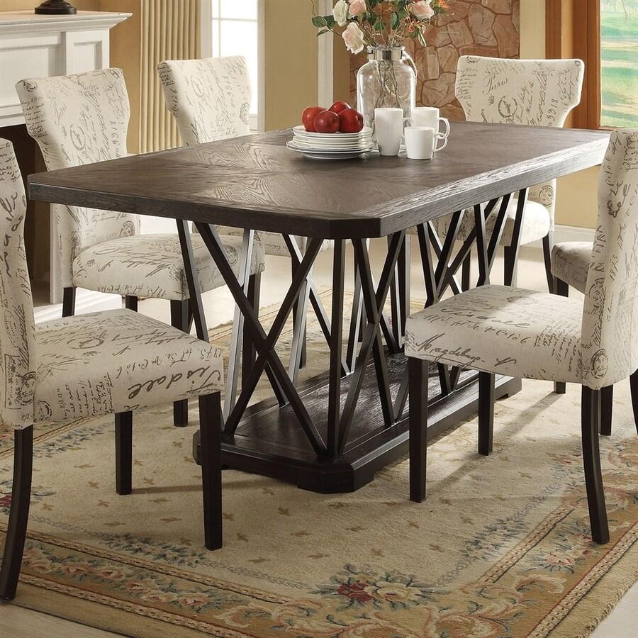 ACME Furniture Zeph Antique Black Dining Table