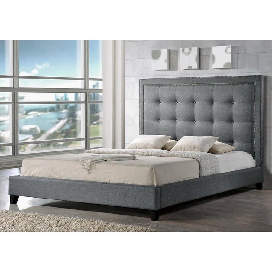 Baxton Studio Hirst Gray Queen Bedroom Set