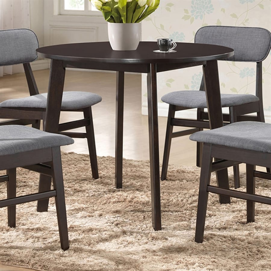 Shop Baxton Studio Debbie Dark Espresso Wood Round Dining Table At