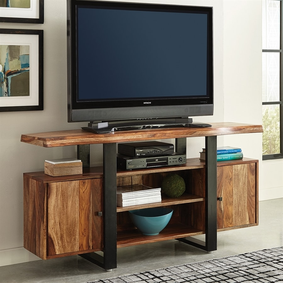 Scott Living Knox Natural/Black Live Edge TV Cabinet