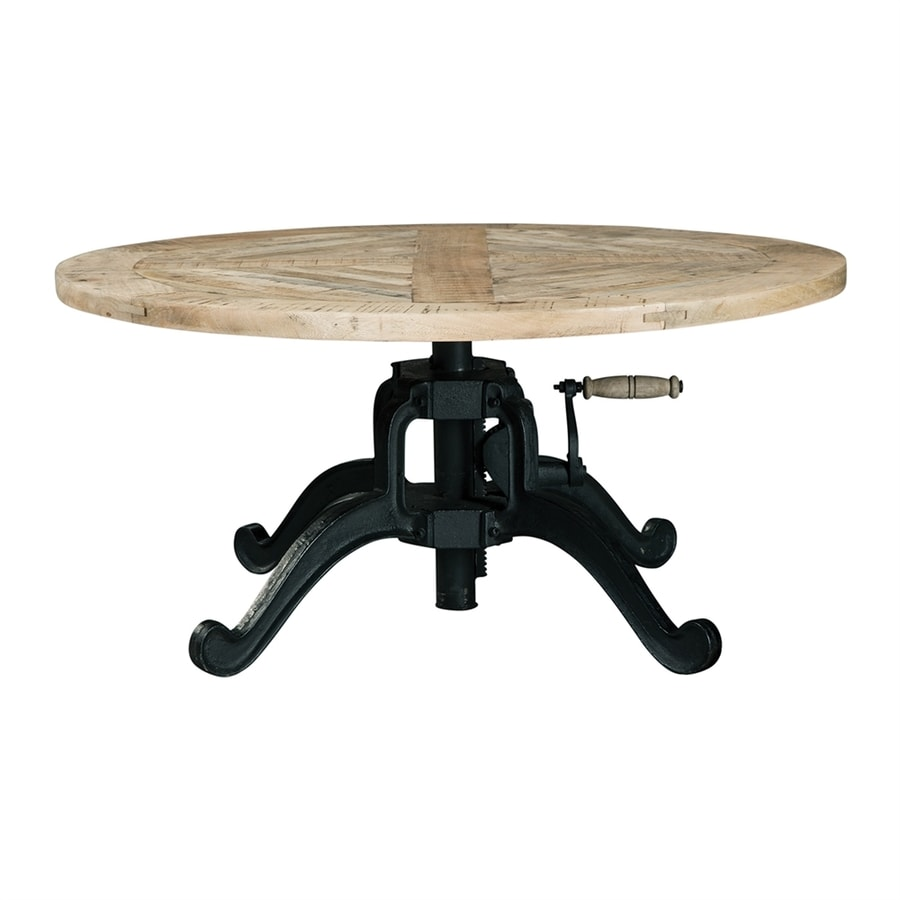 Scott Living Natural Mango Wood Round Coffee Table