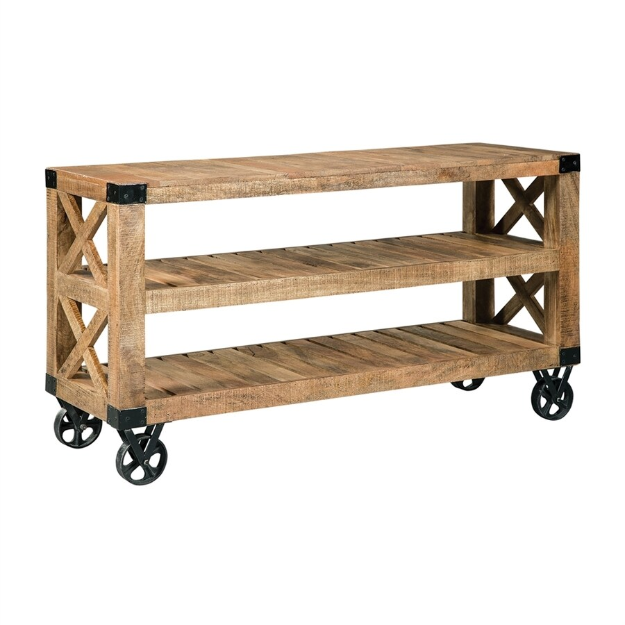 Scott Living Natural Rough Mango Sofa Table
