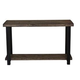 Scott Living Rustic Brown Mahogany Sofa Table