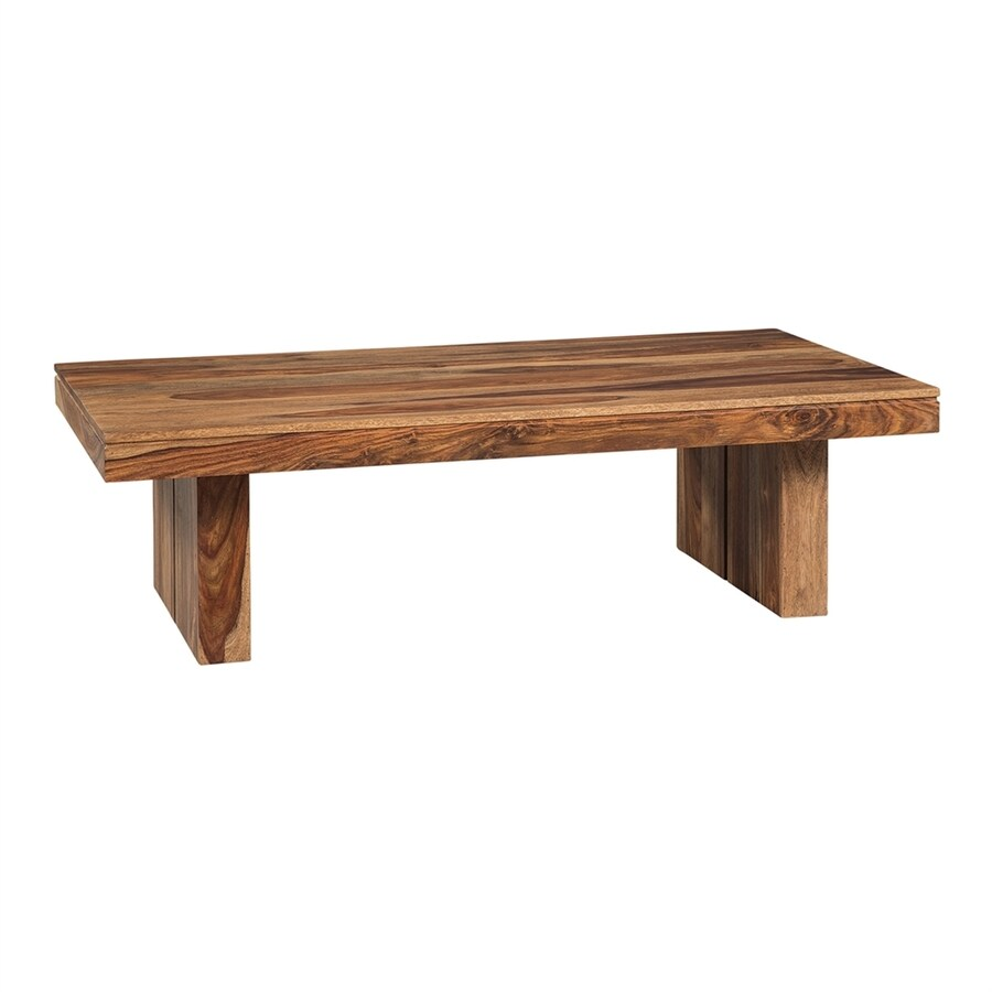 Scott Living Natural Sheesham Wood Rectangular Coffee Table