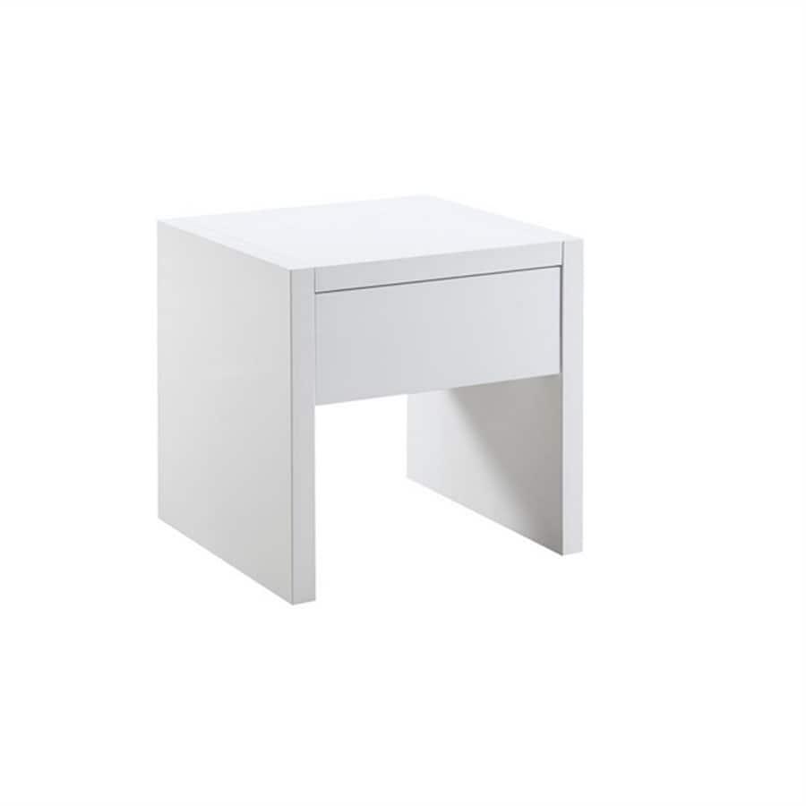 Scott Living Glossy White End Table