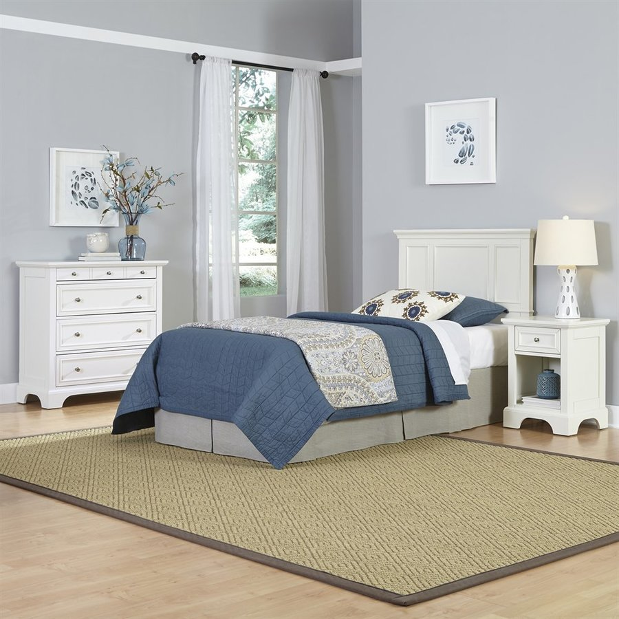 Shop Home Styles Naples White Twin Bedroom Set At Lowes Com
