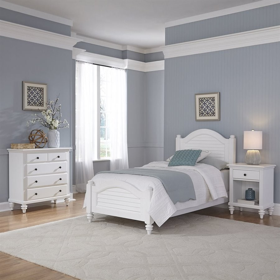 Attractive Home Styles Bermuda White Twin Bedroom Set