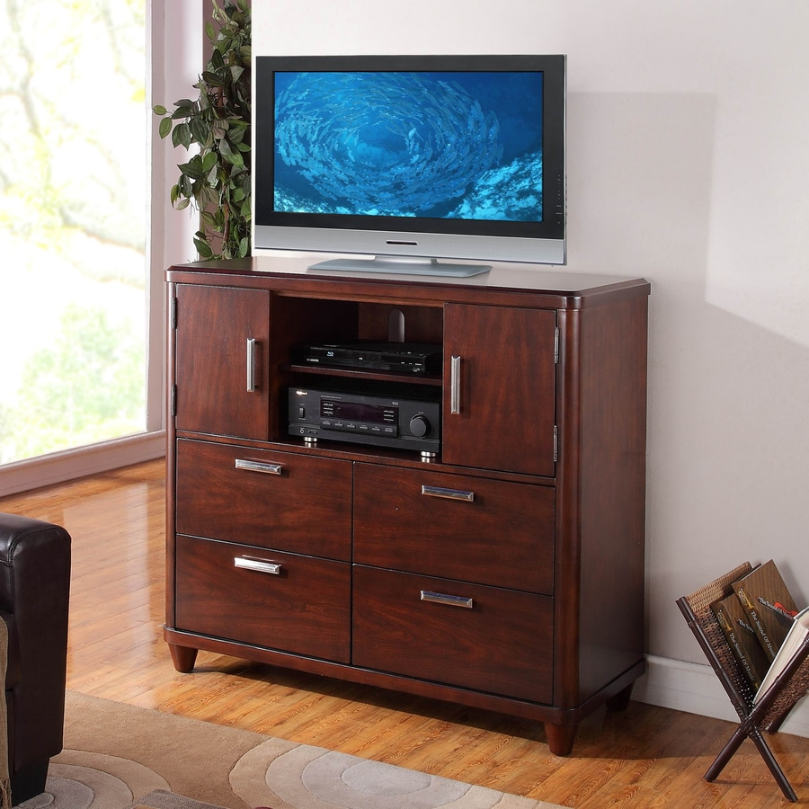 Homelegance Beaumont Medium Brown Cherry TV Cabinet