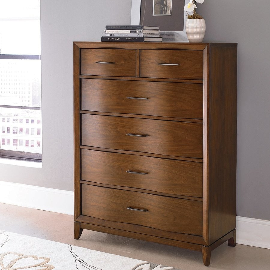 Homelegance Kasler Medium Walnut Asian Hardwood 6-Drawer Chest