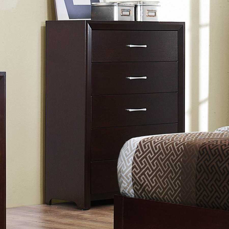 Homelegance Edina Espresso Cherry Asian Hardwood 5-Drawer Chest