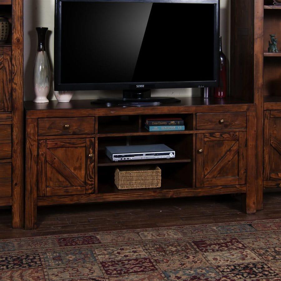 Sunny Designs Ranch House Antique Bronze Rectangular TV Cabinet