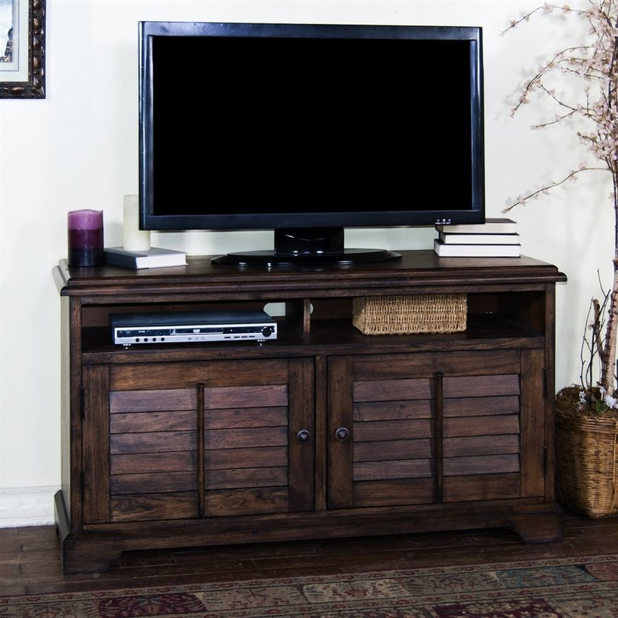 Sunny Designs Savannah Antique Charcoal Rectangular TV Cabinet