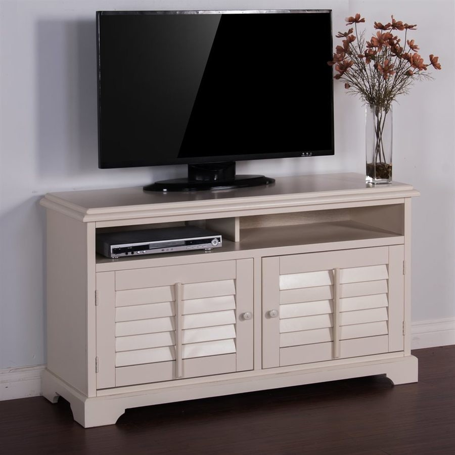 Sunny Designs Vintage White Rectangular TV Cabinet