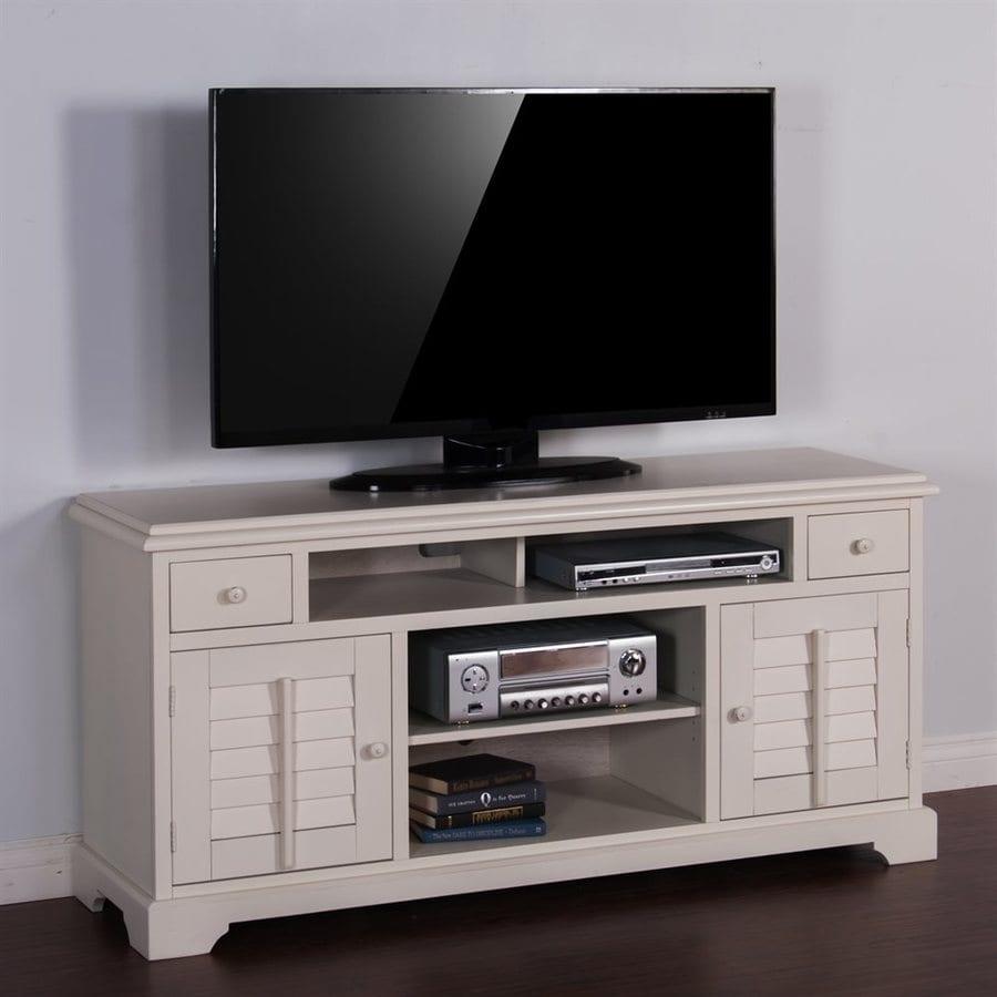 Sunny Designs Vintage White Rectangular TV Cabinet