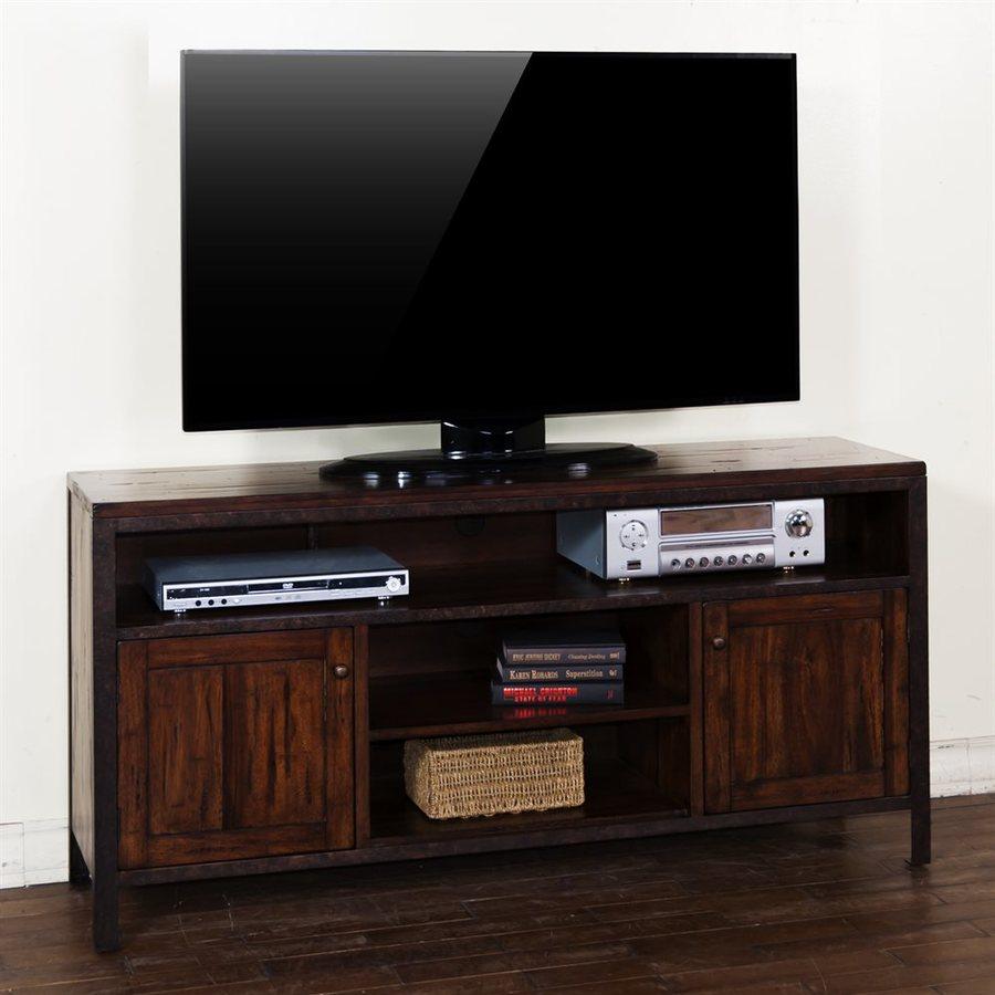 Sunny Designs Crosswinds Weathered Mocha Rectangular TV Cabinet