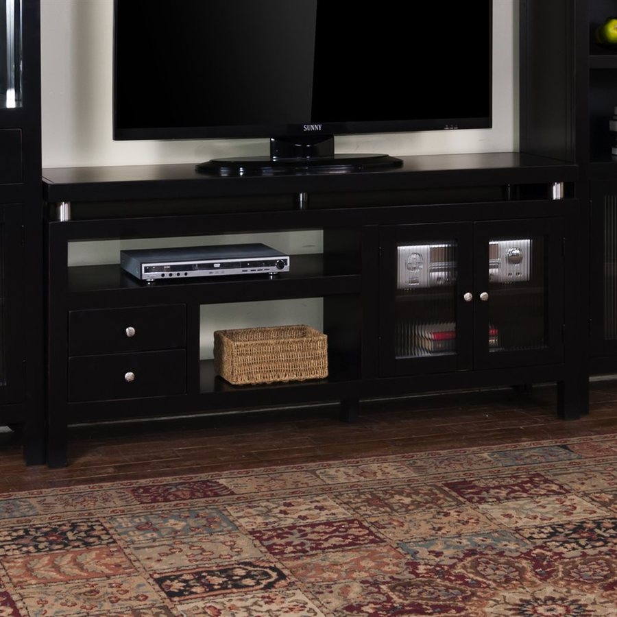 Sunny Designs Laguna Black Rectangular TV Cabinet