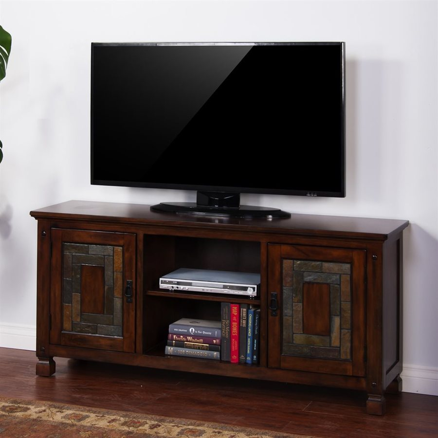 Sunny Designs Dark Hazelnut Rectangular TV Cabinet