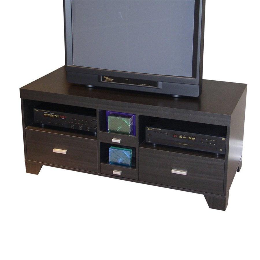 4D Concepts Black woodgrain Rectangular TV Cabinet TV Stand