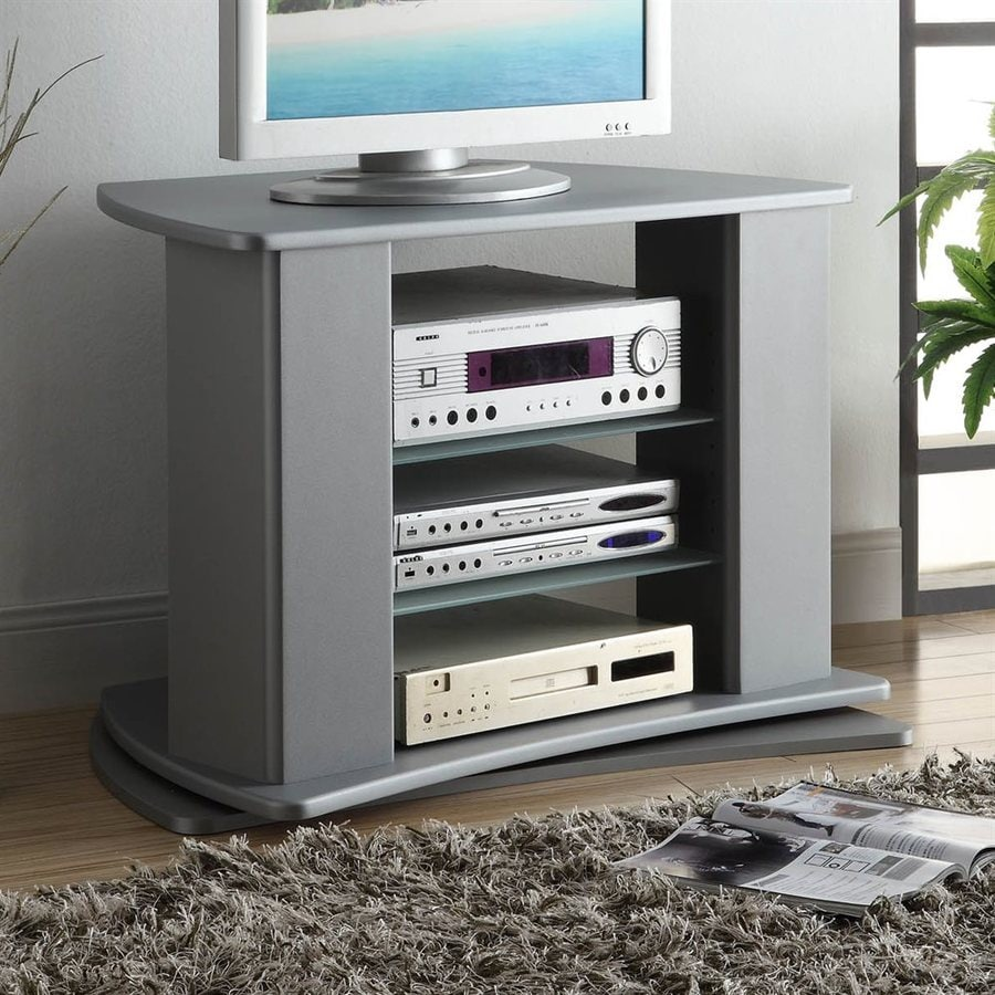4D Concepts Silver Rectangular TV Cabinet TV Stand