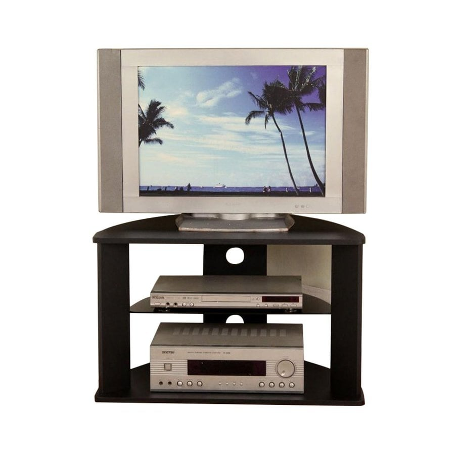 4D Concepts Black Half-round TV Stand