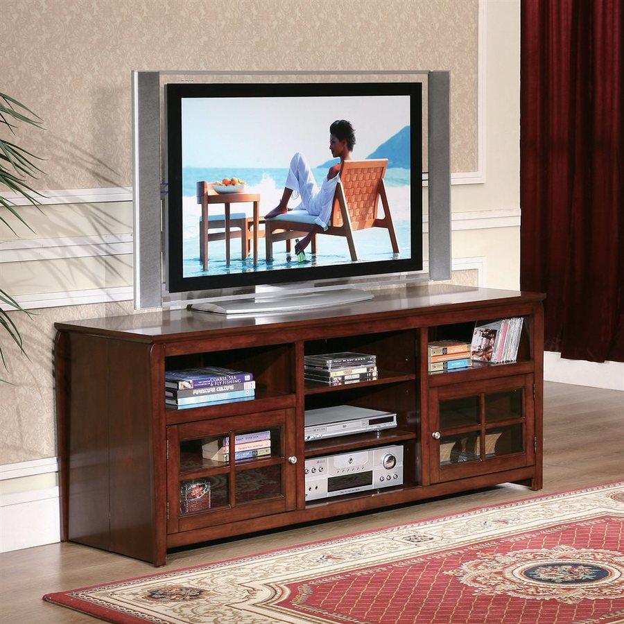 William's Home Furnishings Walnut Rectangular TV Cabinet