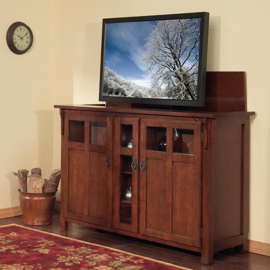 Touchstone Bungalow Mission Chestnut Rectangular TV Cabinet