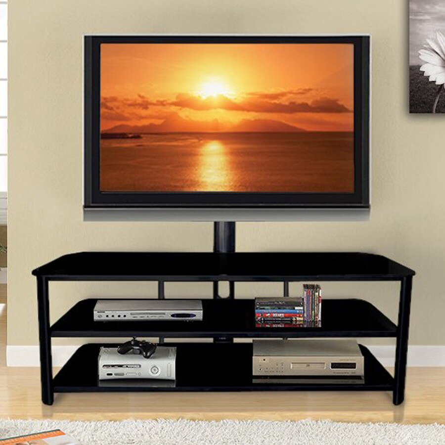 Innovex Stanford Black Tv Cabinet With Integrated Tv Mount At Lowes Com